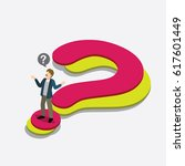 businessman with question mark... | Shutterstock .eps vector #617601449