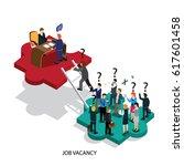 business job vacancy isometric | Shutterstock .eps vector #617601458