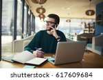 talented manager working... | Shutterstock . vector #617609684