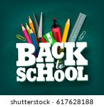 back to school vector design... | Shutterstock .eps vector #617628188