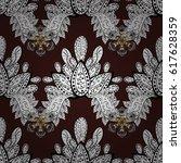 openwork delicate white pattern.... | Shutterstock . vector #617628359