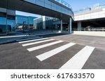 clean empty asphalt road and... | Shutterstock . vector #617633570