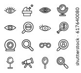look icons set. set of 16 look... | Shutterstock .eps vector #617640080