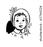baby with round bonnet   retro...   Shutterstock .eps vector #61764226