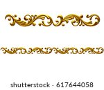 golden  ornamental segment  ... | Shutterstock . vector #617644058