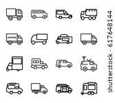 van icons set. set of 16 van... | Shutterstock .eps vector #617648144