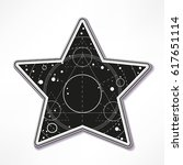 sticker. star with universe... | Shutterstock .eps vector #617651114