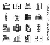 apartment icons set. set of 16... | Shutterstock .eps vector #617651408