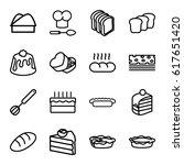 bakery icons set. set of 16... | Shutterstock .eps vector #617651420