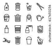 can icons set. set of 16 can... | Shutterstock .eps vector #617653256