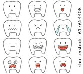vector set of tooth | Shutterstock .eps vector #617654408