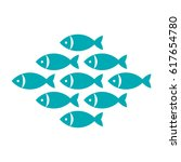 fish  fishes icon isolated on... | Shutterstock .eps vector #617654780