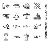 aircraft icons set. set of 16...   Shutterstock .eps vector #617654828