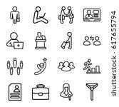 businessman icons set. set of... | Shutterstock .eps vector #617655794