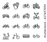 bicycle icons set. set of 16... | Shutterstock .eps vector #617657054