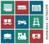 train icons set. set of 9 train ...   Shutterstock .eps vector #617661398
