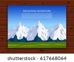 mountaineering  trekking ... | Shutterstock .eps vector #617668064