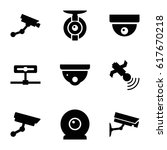 surveillance icons set. set of... | Shutterstock .eps vector #617670218