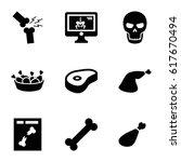 bone icons set. set of 9 bone... | Shutterstock .eps vector #617670494