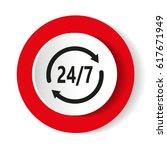 open 24 hours vector icon. non... | Shutterstock .eps vector #617671949