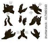 applause set clapping hands... | Shutterstock .eps vector #617680160