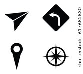 navigation icons set. | Shutterstock .eps vector #617685830