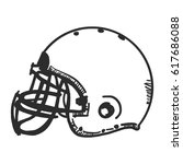 doodle american football helmet | Shutterstock .eps vector #617686088