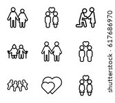 couple icons set. set of 9... | Shutterstock .eps vector #617686970