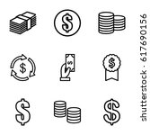 income icons set. set of 9...   Shutterstock .eps vector #617690156