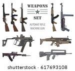 firearm set. automatic rifle ...   Shutterstock .eps vector #617693108