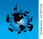 vector illustration of globe... | Shutterstock .eps vector #617697128