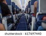 passengers traveling by a new... | Shutterstock . vector #617697440