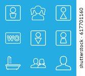 restroom icons set. set of 9... | Shutterstock .eps vector #617701160