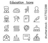 education   learning icon set... | Shutterstock .eps vector #617702288
