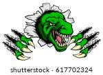 cartoon t rex tyrannosaurus... | Shutterstock .eps vector #617702324