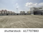 big parking area in rooftop  | Shutterstock . vector #617707883
