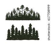 tree outdoor travel black... | Shutterstock .eps vector #617708999