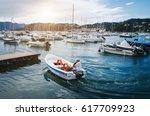 lerici  italy   june 19  2016 ... | Shutterstock . vector #617709923