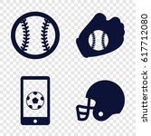 league icons set. set of 4... | Shutterstock .eps vector #617712080
