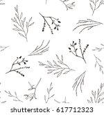 floral linear pattern | Shutterstock .eps vector #617712323