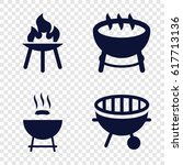 bbq icons set. set of 4 bbq...   Shutterstock .eps vector #617713136