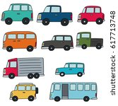 vector set of cars | Shutterstock .eps vector #617713748
