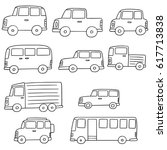 vector set of cars | Shutterstock .eps vector #617713838