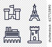 monument icons set. set of 4...   Shutterstock .eps vector #617715890