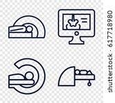 set of 4 diagnostic outline... | Shutterstock .eps vector #617718980