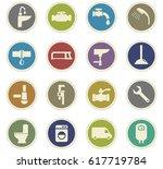 plumbing service vector icons... | Shutterstock .eps vector #617719784