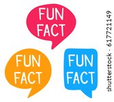 fun fact. speech bubbles vector ... | Shutterstock .eps vector #617721149