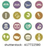 independence day vector icons... | Shutterstock .eps vector #617722580