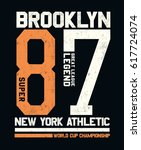 new york  brooklyn college... | Shutterstock .eps vector #617724074