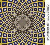 optical motion illusion... | Shutterstock .eps vector #617724080